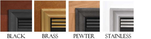 Add Decorative Louvers Snap Onto The Top And Bottom Louver Vents For A Theme You Can Opt To Not Have